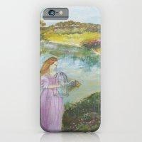Girl Setting a Bird Free iPhone 6 Slim Case