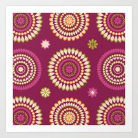 Ethnic Circles Art Print