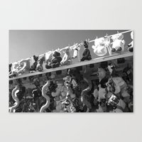 Roll Up, Roll Up, Black&… Canvas Print