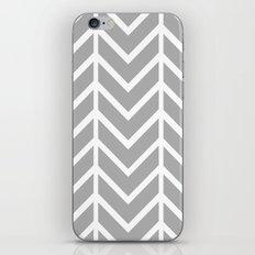 GRAY THIN CHEVRON iPhone & iPod Skin