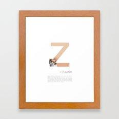 Z is for Zuchon Framed Art Print