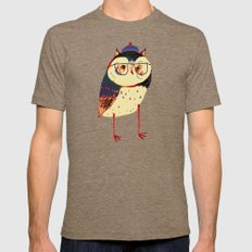 Owl Cutey. Mens Fitted Tee Tri-Coffee SMALL