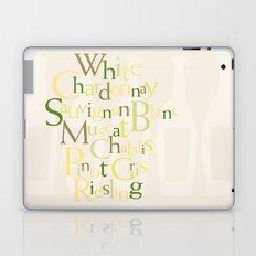 white wine words Laptop & iPad Skin