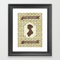 I Always Find Austen Too… Framed Art Print