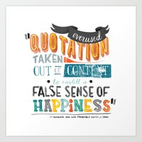 Imitation Flattery - Quotation Art Print