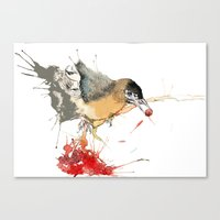 Birds and Berries Canvas Print