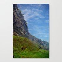 Misty Cliffs Canvas Print