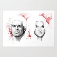 Dexter And Debra Art Print
