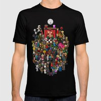 Super Mighty Boosh Mens Fitted Tee Black SMALL