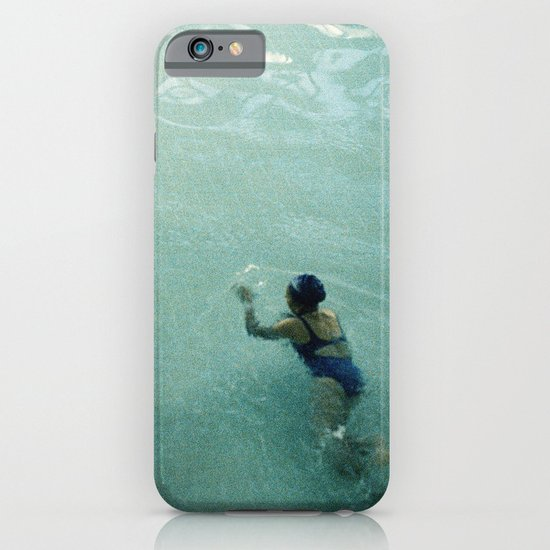 Lady in Swimming Pool 2 iPhone & iPod Case