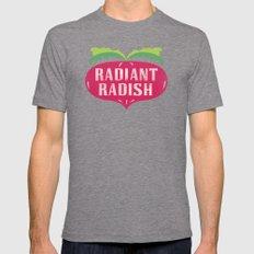 Radiant Radish Mens Fitted Tee Tri-Grey SMALL