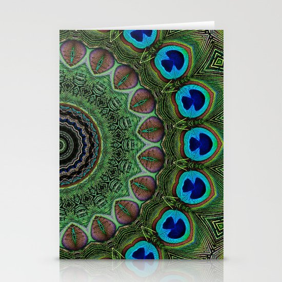 Peacock Abstract Stationery Card
