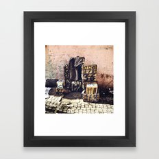 Boîtes Framed Art Print