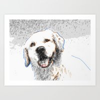 Snow Dog Art Print