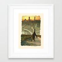 Penguin City Framed Art Print
