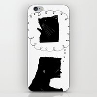 Thinkin' 'bout Kitty iPhone & iPod Skin