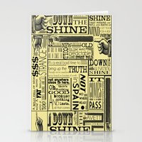 Down With The Shine Stationery Cards