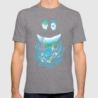 Cave-ities Mens Fitted Tee Tri-Grey SMALL