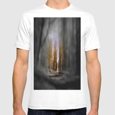 eye in the woods Mens Fitted Tee White SMALL