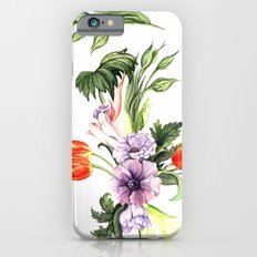 Watercolor spring floral pattern Slim Case iPhone 6s