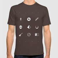 Tribute to Daft Punk, B&W. Mens Fitted Tee Brown SMALL