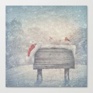 Winter Wonderland Birds  Canvas Print