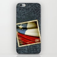 Chile grunge sticker flag iPhone & iPod Skin