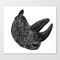 Rhino Canvas Print