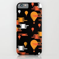 iPhone Cases featuring Travel - Hot Air by Torso Vertical, Illustration and Design