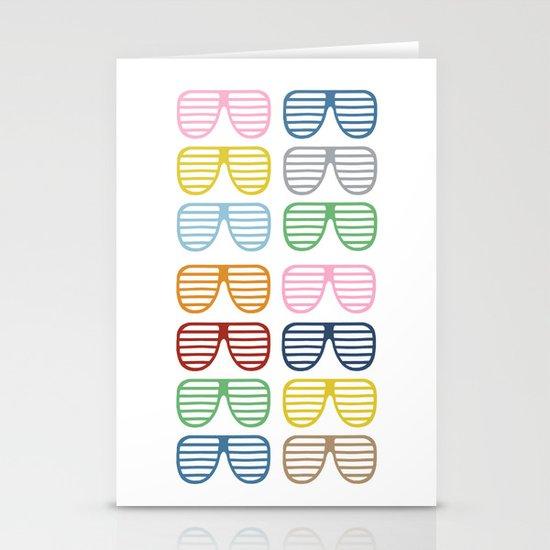 Rainbow Shutter Shades Stationery Card