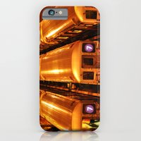 iPhone & iPod Case featuring New York Queens Subway 7 Train Yard by Michael Weitsen