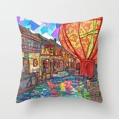 Shang Tang Street Throw Pillow
