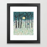 :: Moonlight Kiss :: Framed Art Print