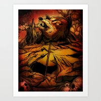 ROTTING EARTH Art Print