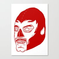 Red Luchador Canvas Print