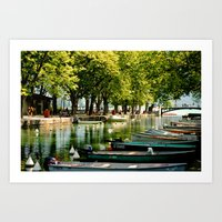 les bateaux Art Print