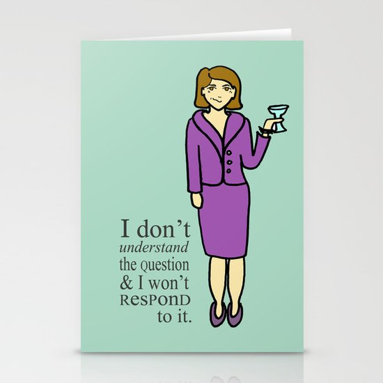 Lucille Bluth Stationery Card