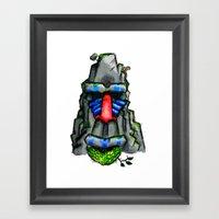 All Hail The Great Monke… Framed Art Print