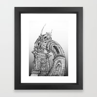 Exuberant Architecture Framed Art Print