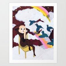 Girl of my dreams Art Print