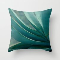 blue agave Throw Pillow