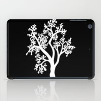 Solo Tree White On Black iPad Case