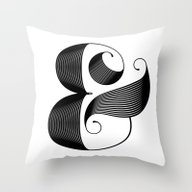Throw Pillow featuring Ampersand by Jude Landry