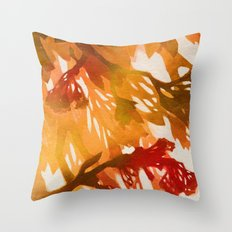 Morning Blossoms 2 - Red Variation Throw Pillow