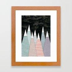 Pastel Peaks Framed Art Print