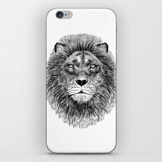 Black+White Lion iPhone & iPod Skin