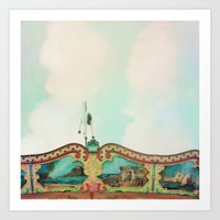 Summer Carousel Art Print
