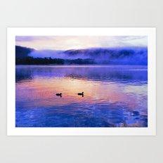 Morning Meditation (Lake George Sunrise) Art Print