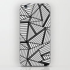 Ab Lines 2 Black and White iPhone & iPod Skin