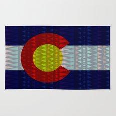 Colorado Flag/Geometric Rug